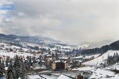 Лыжный курорт Bukovel, Украина Стоковое Фото