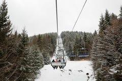 Лыжный курорт Bukovel, Украина Стоковое фото RF