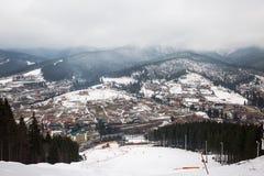 Лыжный курорт Bukovel, Украина Стоковая Фотография RF