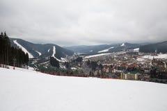 Лыжный курорт Bukovel, Украина Стоковые Фото