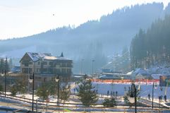 Лыжный курорт Bukovel Стоковые Изображения RF