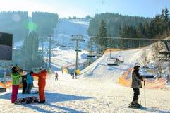 Лыжный курорт Bukovel Стоковые Изображения