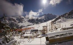 Лыжный курорт Chimbulak Стоковое Изображение