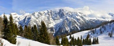 Лыжный курорт Folgarida Стоковые Фотографии RF