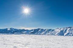 Лыжный курорт Guduari, Georgia Стоковые Фотографии RF