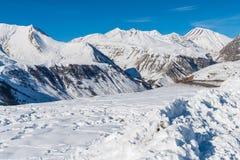 Лыжный курорт Guduari, Georgia Стоковое фото RF