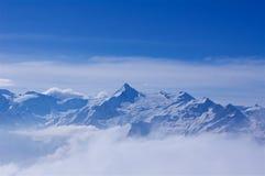 Лыжный курорт Kaprun Kitzsteinhorn стоковые фотографии rf