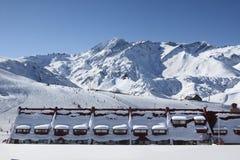 Лыжный курорт Las Leñas Стоковая Фотография