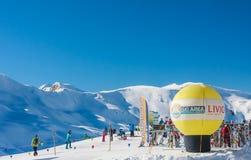 Лыжный курорт Livigno Италия Стоковая Фотография