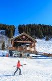 Лыжный курорт Meribel, центр деревни Meribel (1450 m) Стоковое Изображение