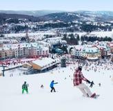 Лыжный курорт Mont-Tremblant, Квебек, Канада Стоковая Фотография