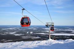Лыжный курорт Ylläs, Финляндия Стоковое Изображение RF
