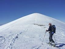 Лыжный поход в Monti Sibillini Стоковая Фотография