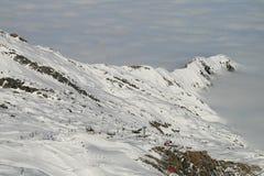 Лыжный район высокогорного ледника Стоковые Изображения RF