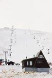 Лыжный район Roundhill около озера Tekapo Стоковое Изображение