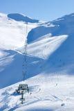 Лыжный район Roundhill около озера Tekapo Стоковые Изображения