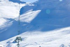Лыжный район Roundhill около озера Tekapo Стоковые Изображения RF
