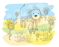 львев семьи Стоковые Фото