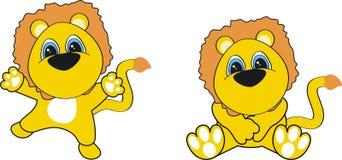 львев шаржа младенца Стоковое Изображение RF