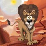 львев шаржа Стоковые Изображения