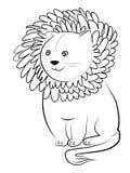 львев шаржа Стоковая Фотография