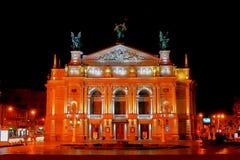 Львов Национальный академичный театр оперы и балета названный после SolomÑ-Ñ- Krushelnitsky стоковое изображение rf