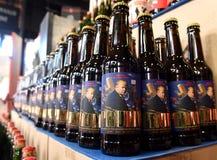 Львов, Украина - 20-ое мая 2017: Бутылки пива отличая США Pre Стоковое фото RF