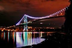 львы строба моста Стоковая Фотография