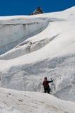 льдед альпиниста Стоковое Фото