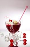 льдед вишни cream вкусный Стоковые Фото