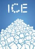 льдед вороха кубиков Стоковое Фото
