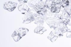 льдед задавленный предпосылкой Стоковая Фотография