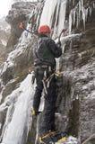 льдед крайности альпиниста Стоковые Фото
