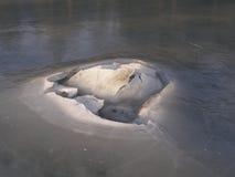 льдед кратера Стоковые Изображения RF