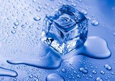 льдед кубика кристаллов Стоковое Изображение