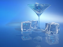 льдед кубика иллюстрация вектора