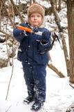 льдед мальчика оси малый Стоковая Фотография RF