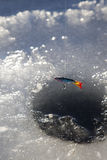 льдед отверстия Стоковые Фотографии RF