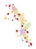 льдед плодоовощей ягод cream Бесплатная Иллюстрация