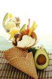 льдед плодоовощ конуса cream Стоковые Фотографии RF