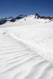 льдед поля elbrus ближайше Стоковое Фото