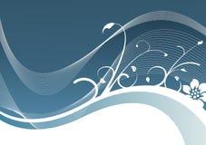 льдед предпосылки голубой флористический Стоковое Фото