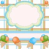 льдед приветствию карточки cream бесплатная иллюстрация
