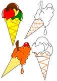 льдед расцветки cream бесплатная иллюстрация