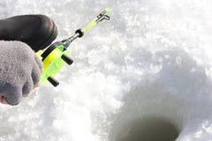 льдед рыболовства Стоковое Изображение