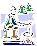 льдед рыболовства бесплатная иллюстрация