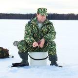 льдед рыболовства Стоковая Фотография RF