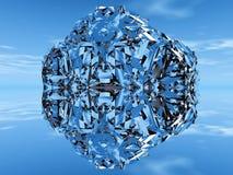 льдед сини шарика иллюстрация вектора