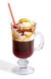 льдед сливк кофе карамельки Стоковая Фотография RF