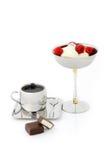 льдед сливк кофе Стоковое Фото